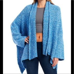 NWT Free People Open Cardigan Blue Sz Small